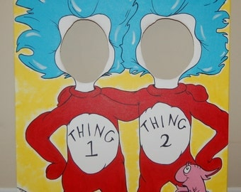 Thing1 & Thing2 Photo Prop Painting