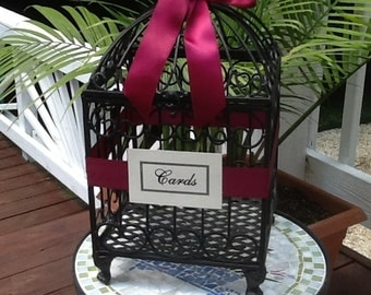 Wedding Birdcage Card Holder Gift Cards Bird Cage Money Holder You Customize and Personalize