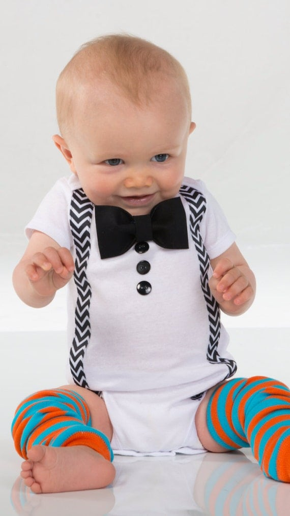 Items Similar To Baby Boy Clothes Bow Tie Suspenders