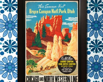 Bryce Canyon, Utah Travel Poster - 3 sizes available, one low price.
