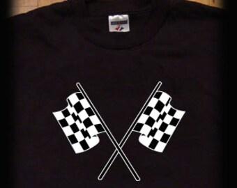 Checkered flag t shirt