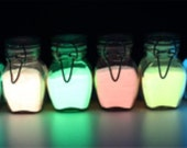 10g x 5 colors Day col GLOW in the DARK Pigment Powder  Crafting, Nail Art, Posters, Cards, Jewellery,