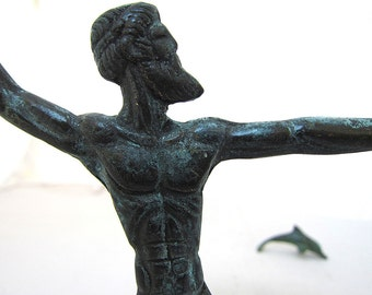 Bronze Sculpture of Poseidon God of sea,Olympian Greek Mythology God