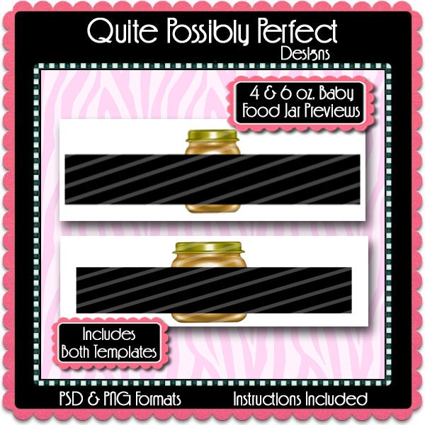 Baby Food Jar Label Preview Template Instant Download PSD and PNG ...