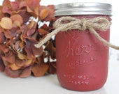 Mason Jar Soy Candle, Pumpkin Apple Butter Scented