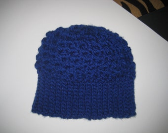 Classic Royal Blue Adult Winter Hat, Cap, Beanie