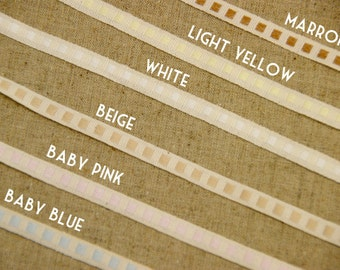 20m (22 yards) x 7mm(0.28 inches) roll of 100% Organic Cotton Ribbon-Sewing Tape-Embellishment-Scrapbooking(204)