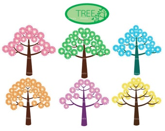 Tree Clipart Clip Art - tree clip art whimsical - Digital Clip Art - tree digital clip art - cute, sweet - Personal and Commercial Use