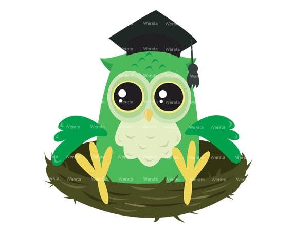 items similar to owl graduation clipart clip art Pink Owl Clip Art Graduation free clipart of graduation owl