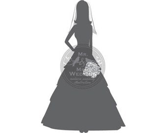 Silhouette Wedding Program - Bride 2