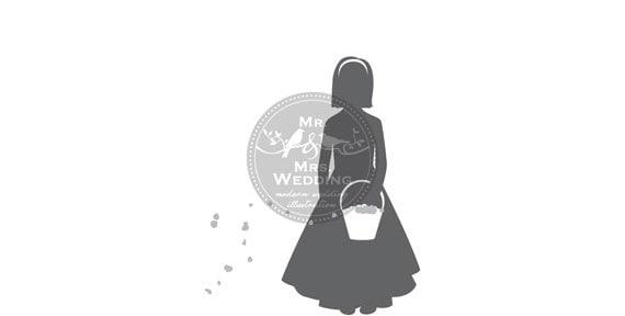 Silhouette Wedding Program Flower Girl 1