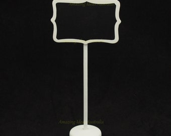 6 x White Chalkboard Stands Vintage Style : Wedding Lolly Buffet Blackboard Display Signs Australia