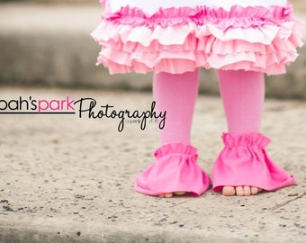 Ruffle Tutu Tights - Pink Ruffle Leggings - Super Cute and Comfy Fun girls cotton tights chose any color ruffle to match your outfit