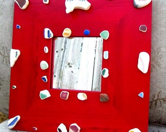 Authentic Sea Pottery Embellished Mirror
