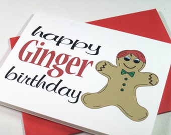 Gingerbread Ginger Birthday Card