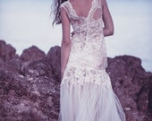 Ivory tulle lace wedding dress - Au revoir