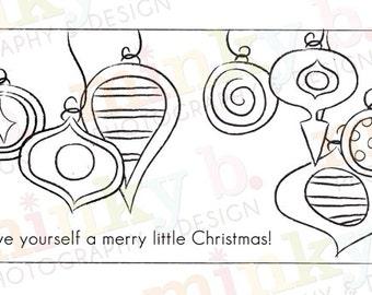 "INSTANT DOWNLOAD Digital Stamp ""Ornamental Card w Sayings"" by Minky B Designs"