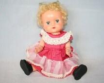 Vintage Doll - Made In England /MEMsArtShop.