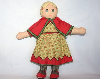 Pretty Cloth Doll - Designed By Jean Greenhowe 1982.