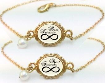 Best Friends Bracelets Set of 2, Best Friends Infinity Bracelet