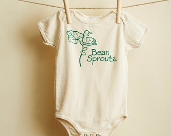 Organic Bean Sprout Onesie- American Apparel