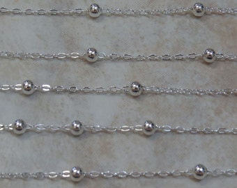 2x2mm Silver in color Brass Chain - (G33)