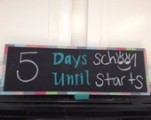 Reversible Countdown Chalkboard Sign