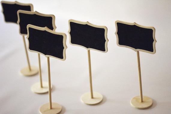 SALE Set Of 5 Mini Chalkboard Stands Natural Color