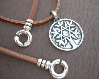 Tree of Life Necklace, Solomon Tree of Life,Leather Necklace, Mens Necklace, Womens Necklace, Pendant, Mens Jewelry, Leather Jewelry,