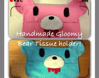 Handmade Gloomy Bear Tissue Pouch Holder!