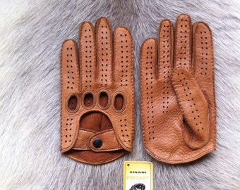 Men's Peccary Leather Gloves  - Driving Gloves