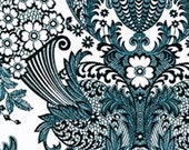 """Sale-Oilcloth 47/48"""" Wide Paradise Lace/White W/Black (By the Yard)"""