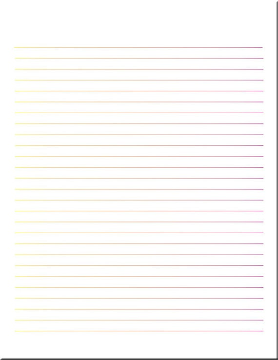 Multicolor Lined Paper Lined Stationery Writing Paper – Lined Letter Writing Paper