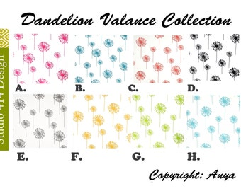 Dandelion Valance. Dandelion Window Treatment.Dandelion Window Valance.Dandelion Valance.Zigzag window Treatment