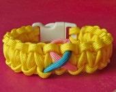 Endometriosis Awareness Paracord Bracelet