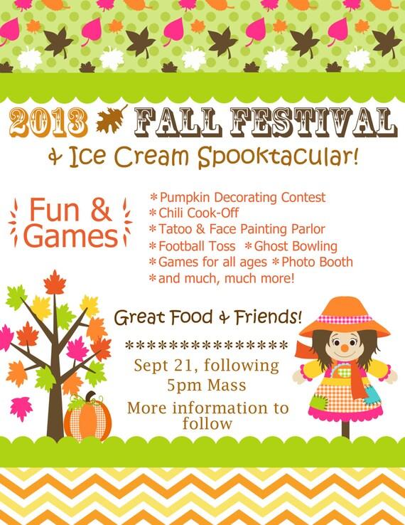 fall fest or halloween invitation printable