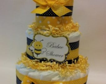 Little Bumble Bee Diaper Cake