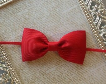 Baby Headband - Baby Bow Headband - Red Baby Headband - Bow Headband - Newborn Headband - Red Bow Headband