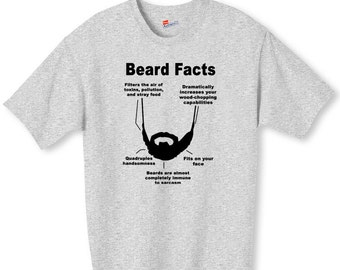Beard Facts Funny Shirt S-2XL