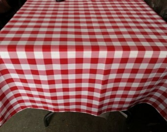 ArtOFabric Gingham Checker Picnic Party Tablecloth