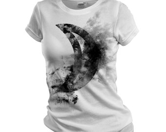 Touched By The Moon / Moon Sign Women T Shirt / Astrological Symbols Planets