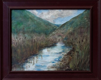 The Beaver Ponds - Original Oil/Acrylic Painting - Hannah McIntire