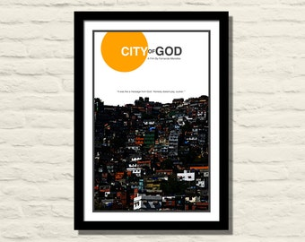 City Of God Movie Poster Art Print 11 X 17, Modern Poster, Home Decor