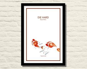 Die Hard Movie Poster, Art Print, 11 X 17, Minimalist Poster, Home Decor