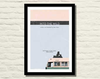 Into The Wild Movie Poster, Art Print, 11 X 17, Minimalist Movie Poster, Home Decor