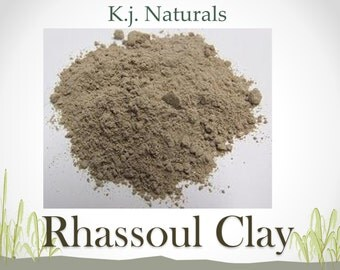 Moroccan Rhassoul Clay- Natural Hair Shampoo Alternative, Facial Mask and Exfoliator, In Powder Form with Reusable Container
