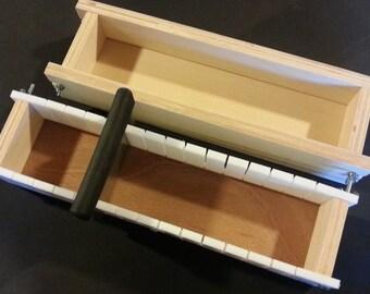 4 Lb Adjustable SOAP MOLD and BAR Slicer,   Cold Process Loaf Molds Wooden Wood