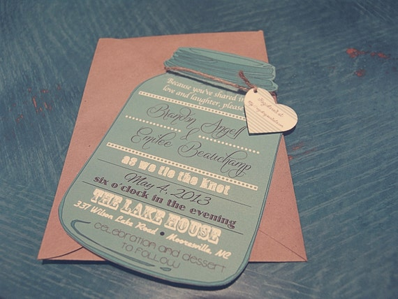 template mason jar invitationcustom invitationcustom, Invitation templates