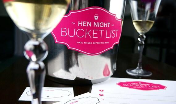 Hen Night Bucket List Printable Game By FinalNightofFreedom