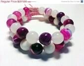 On sale Agate Gemstone shamballa bracelet set